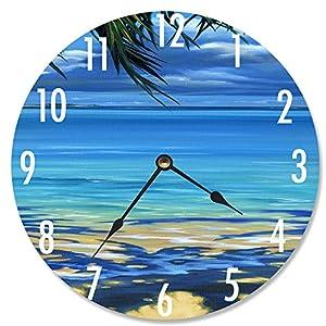 61l9UmVDZJL._SS300_ Coastal Wall Clocks & Beach Wall Clocks