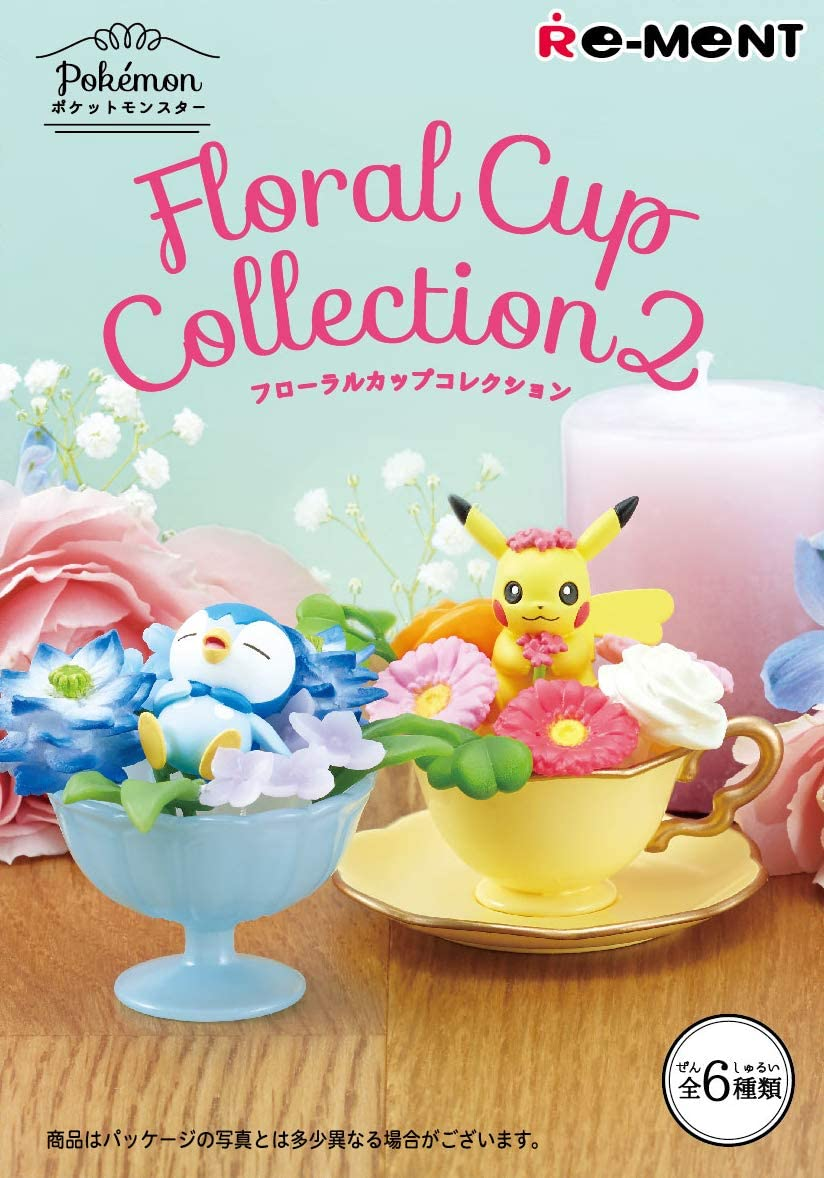 Pokemon Floral Cup Collection2 6Pack BOX (CANDY TOY)