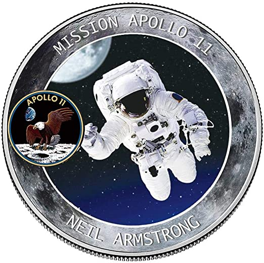 20 YEAR COMMEMORATIVE BUCKLE U.S.A MADE FIRST MEN ON THE MOON