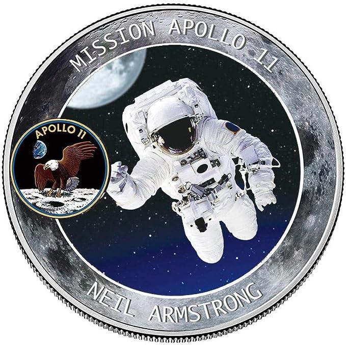 Womdee 2019 New Apollo - Moneda conmemorativa del 50 aniversario de la NASA Humans First Landing, colección de joyas de monedas, regalo de recuerdo, 2 unidades: Amazon.es: Hogar