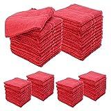 6 Dozen Allure 100% Cotton Salon Spa Facial Drying Terry Cloth 72 Towels 16