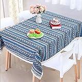 おしゃれ かわいい テーブルクロス 人気 エスニック柄 レース付き ボヘミアン柄 長方形 140x180cm