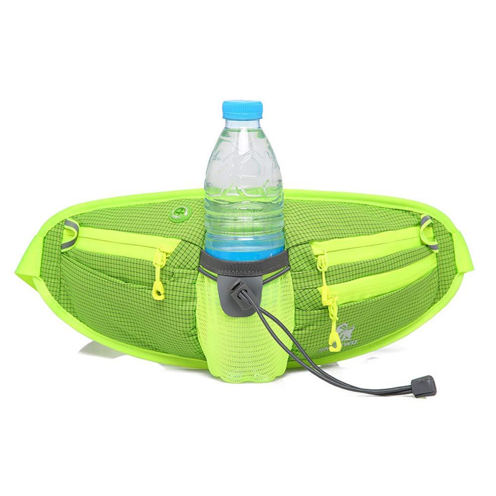 HhGold Marsupio Sportive Man Wasserdichte Marsipi Gürtel Frau Laufende Multifunktionsflasche Travel (Farbe : Grün, Größe : Einheitsgröße)