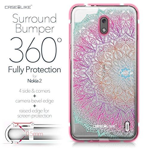CASEiLIKE Funda Nokia 7 , Carcasa Nokia 7, Búho diseño gráfico 3315, TPU Gel silicone protectora cover Arte de la mandala 2090