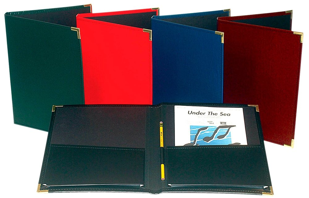 Marlo Plastics Choral Rehearsal Folder 9'' X 12'' with Gusset Pockets Red