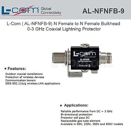 L-COM AL-NFNFB-9 COAXIAL SURGE PROTECTOR, 1OUTLET