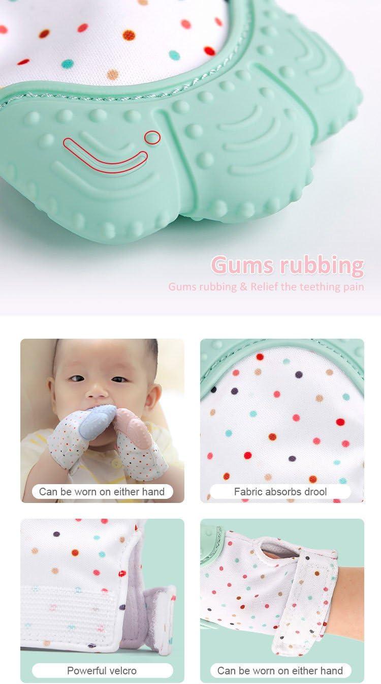 bleu pastel b/éb/é mitten l/âge de 3 /à 12 mois b/éb/é gant les jouets de dentition et douleur apaisant de dentition pour b/éb/é 100/% aliments niveau bpa libre