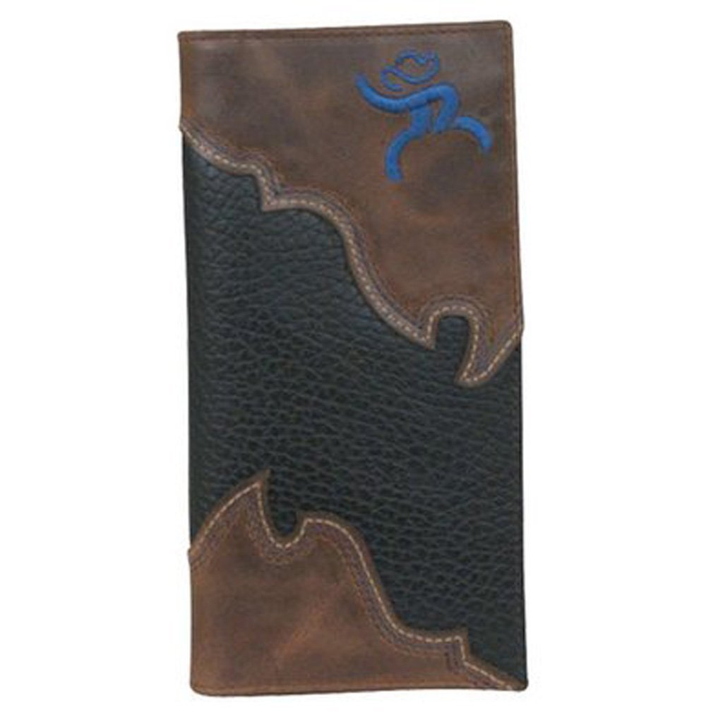 Hooey Men's Hooey Roughy Overlay Rodeo Wallet Black One Size