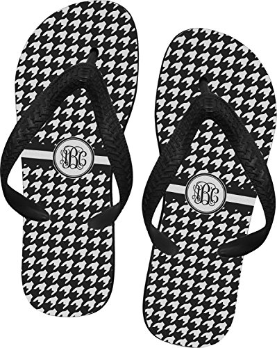 RNK Shops Houndstooth Flip Flops - XSmall (Personalized)