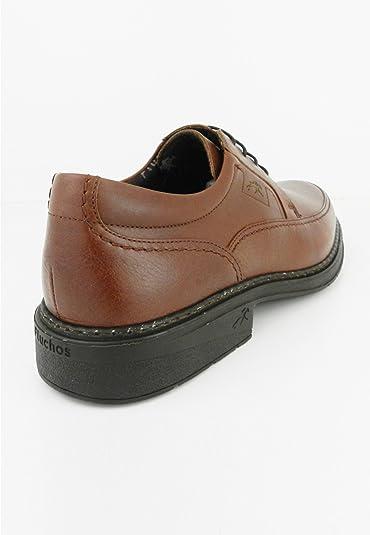 zapattu Fluchos - Zapatos CON Cordones Cosidos - Marrón, 44