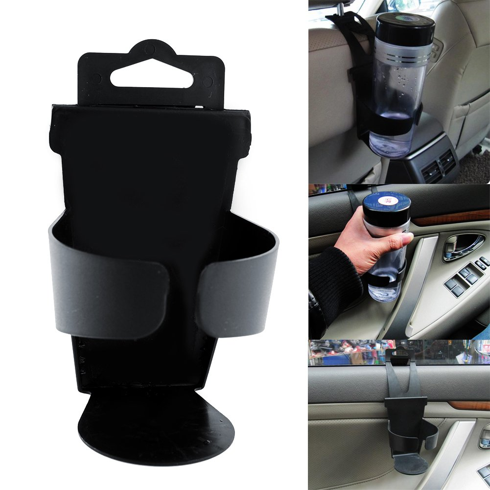 Leaftree 1 Pcs Portable Car Truck Universal Door Mount Drink Water Cup Bottle Can Holder Stand