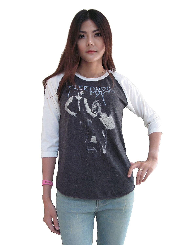 BUNNY BRAND Womens Fleetwood MAC Rumours 1970s Rock Legends Raglan T-Shirt