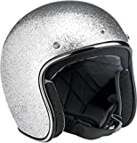 Biltwell Bonanza Open Face Helmet Silver Medium