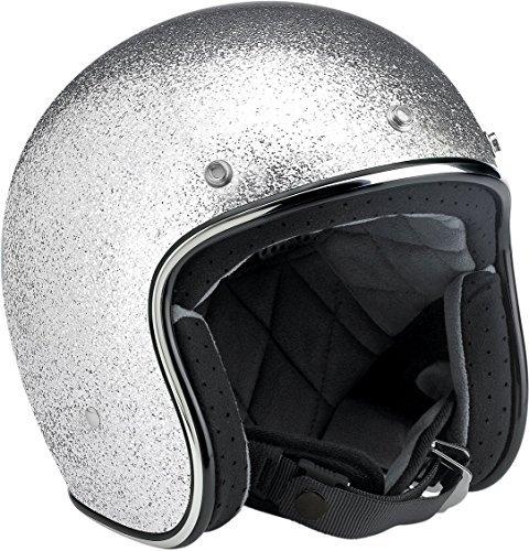 Biltwell Bonanza Open Face Helmet Silver Medium ()