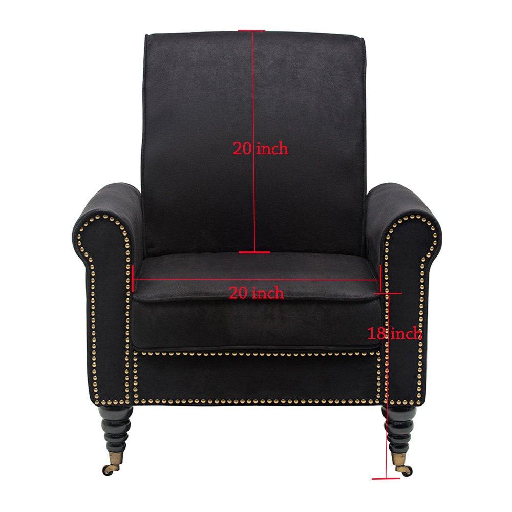 Amazon.com: Haobo Home Accent Chair, Gamuza: Kitchen & Dining