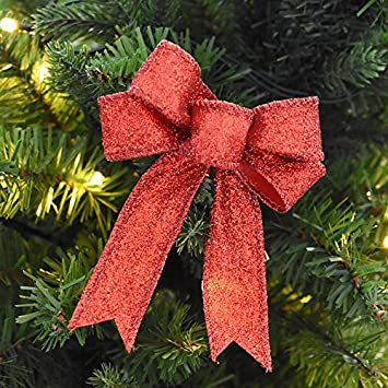 ct 4pcs different colors bow knot christmas tree decorations xmas hanging ornament wedding - Amazon Christmas Tree Decorations