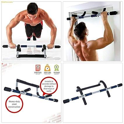 Amazon.com : door frame pull up bar chin up exercise doorway fitness