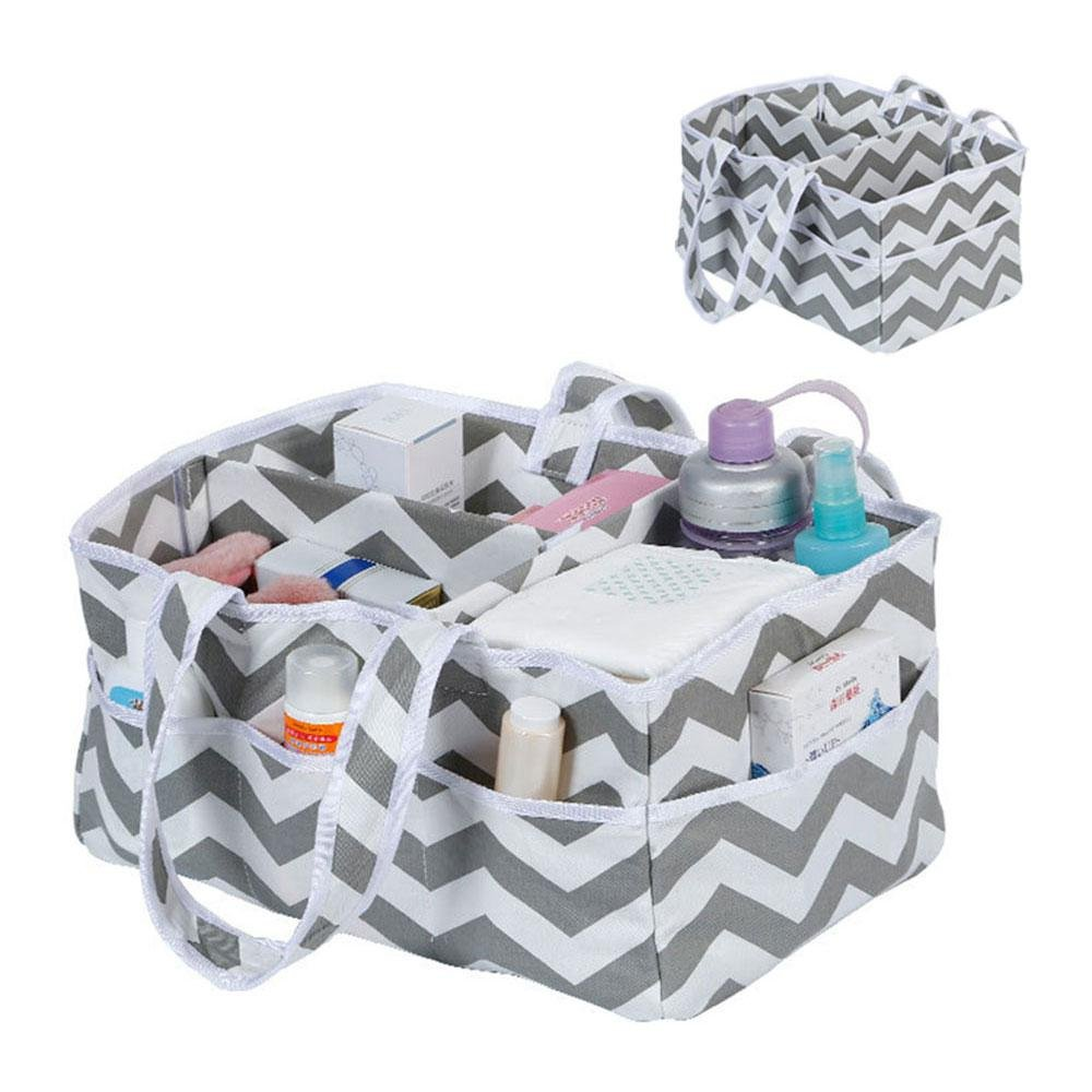 Baby Diaper Caddy Organizer - Portable Car Storage Basket, Portable Large Diaper Caddy Tote & Baby Diaper Stacker Bin, Perfect for Home, Car Or Travel Organization Pawaca