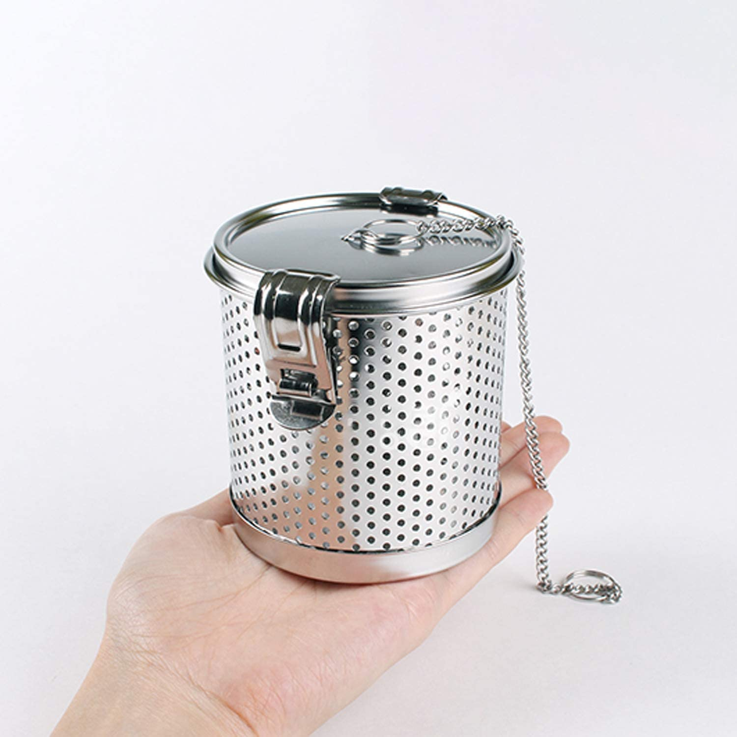 7oz Spices /& Seasonings Cookware for Boiling Tea Ball Cooking Mesh Strainers Threaded Connection Spice Infuser Stainless Steel with Extended Chain Hook to Brew Loose Leaf Tea