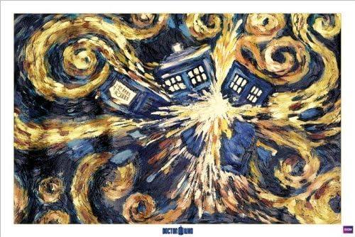 - Pyramid Doctor Who grand poster Van Gogh Exploding Tardis 61 x 91,5 cm