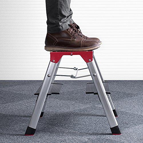 Strange Delxo Lightweight Aluminum 2 Step Ladder Rv Ladder Step Inzonedesignstudio Interior Chair Design Inzonedesignstudiocom
