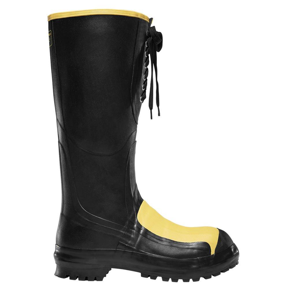 Lacrosseメンズ16インチメタPac Met Steel Toe Work Boot B0012821V0 10 D(M) US|ブラック ブラック 10 D(M) US