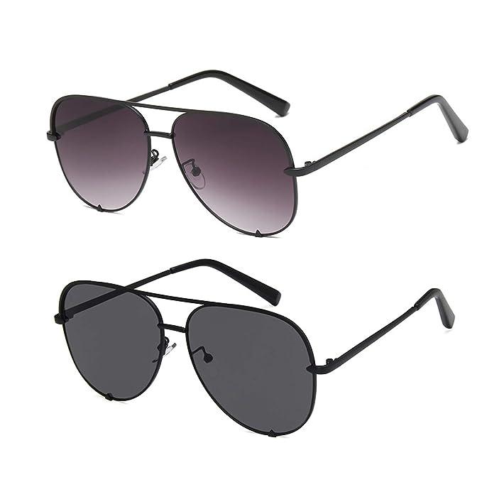 Amazon.com: Gafas de sol de aviador de diseño de la marca ...