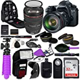 Canon 6D DSLR Camera with Canon EF 24-105mm f/4L IS USM Lens, Auxiliary Panoramic and Telephoto Lenses, 32GB Memory + Accessory Bundle