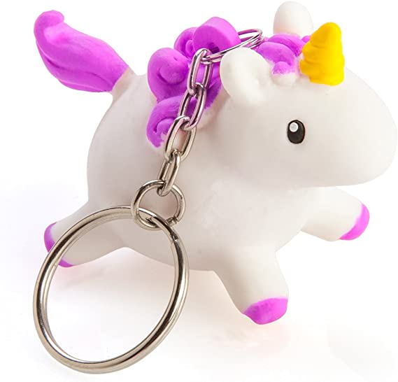 Boxer Gifts BB5245 Squeezy Poo Unicorn Keyring | Children's Stocking Stuffer | Squeeze to Show Glittery Poop