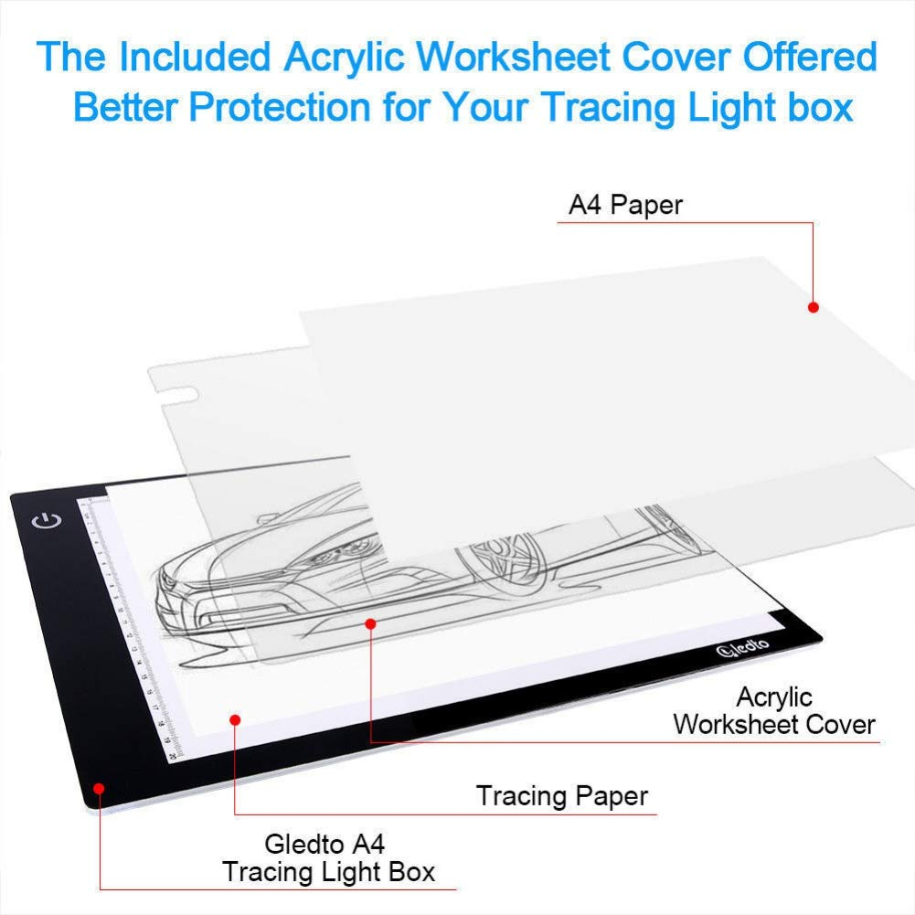 Hankyky A4 LED Licht Box Tracer USB Power Einstellbare LED-Licht Tablet Board Pad f/ür 5D DIY Diamant Malerei