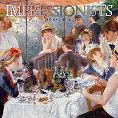 2018 Impressionists Calendar - 12 x 12 Wall Calendar - With 210 Calendar Stickers