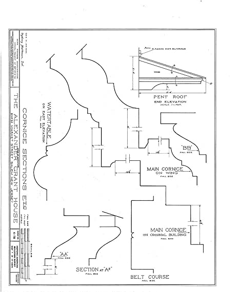 Amazon Com Historic Pictoric Structural Drawing Habs Nj 17 Sal 6