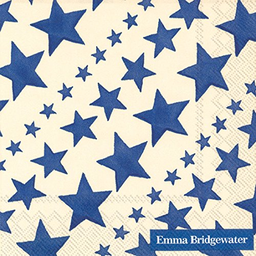 Ideal Home Range 20-Count Emma Bridgewater Paper Cocktail Napkins, Blue Starry (Patriotic Cocktails)