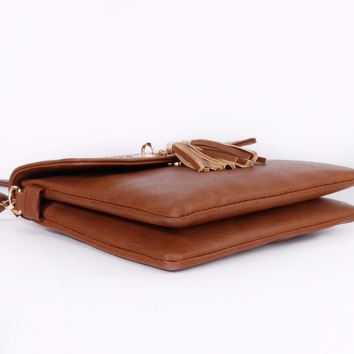 Leather Rivet Crossbody Purse Shoulder Bag for Women