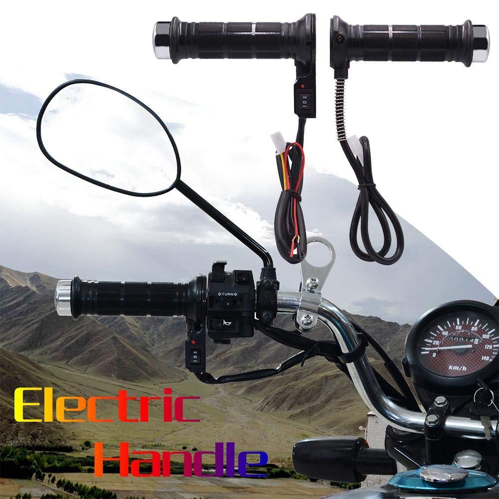 12V Moto électrique chauffé Grips Moto Hot Grip 22mm 7/20,3cm, Universal Moto Chauffants Poignée Grip Guidon de Chauffe 3cm Universal Moto Chauffants Poignée Grip Guidon de Chauffe Hete-supply