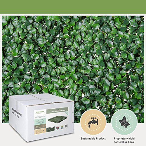NatraHedge Artificial Boxwood Hedge Mat 20'x 20' Panels (12 Pack)