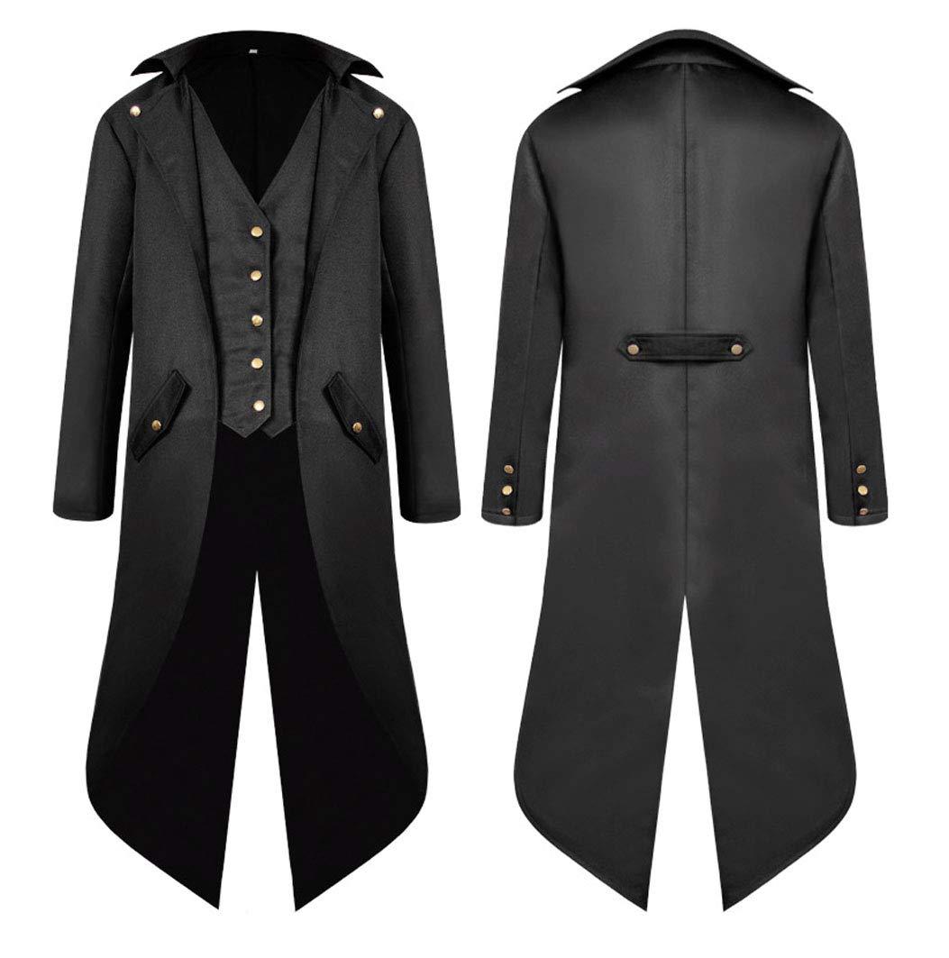 MasaRave Mens Steampunk Tailcoat Vintage Victorian Jacket 4
