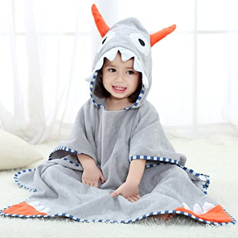 Baby Towel /& Bathrobe Animal Hooded Newest for Boys Girls 0-7 Years Pink