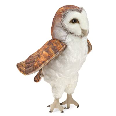 "Folkmanis Barn Owl Hand Puppet, White, Brown, 8"": Toys & Games"