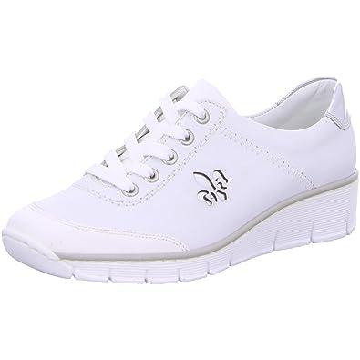 a696839c8b2c Rieker 53701-80 Größe 41 Weiß (weiß)  Amazon.de  Schuhe   Handtaschen