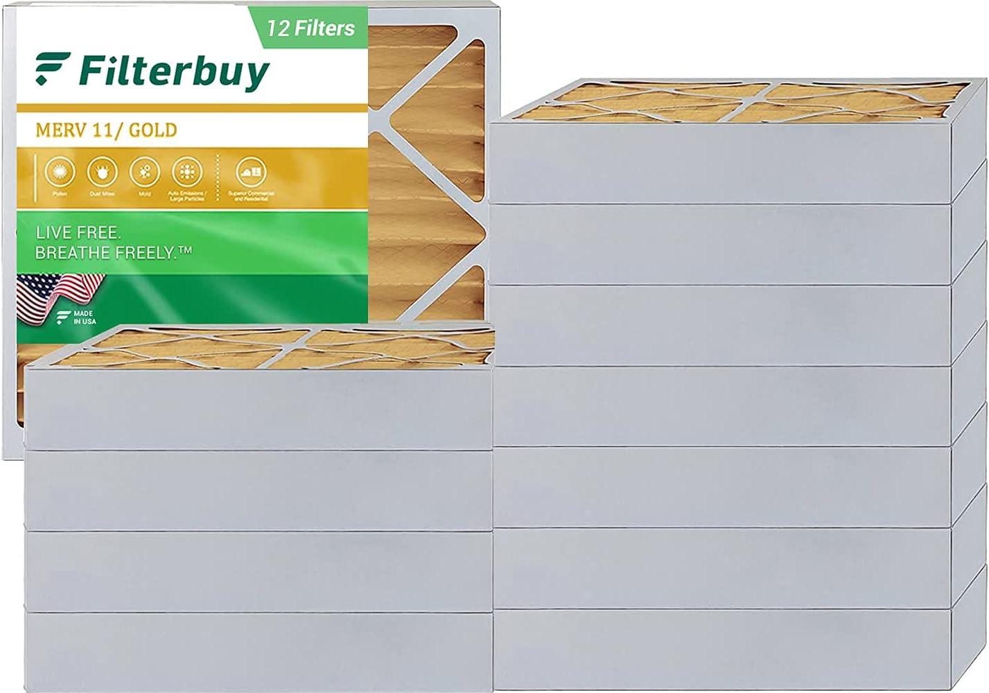 FilterBuy 16x16x4 MERV 11 Pleated HVAC AC Furnace Air Filter AFB Gold