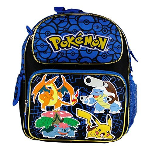 NUEVO-llegan-2015-Pokemon-Pikachu-Negro-Azul-12-Mochila-Escolar