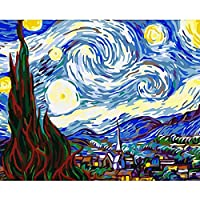 Guume Dipingere con I Numeri Quadro Famoso Senza Cornice Cielo Dipinto A Mano con I Numeri Wall Art Picture Painting & Calligraphy Acrylic Paint40X50Cm