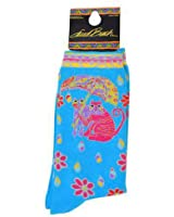 Laurel Burch Fair Weather Friends Socks / Turquoise