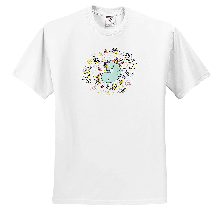 Unicorn in Pastel Colors ts/_314201 Adult T-Shirt XL 3dRose Cassie Peters Unicorns