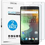 [2 Pack] OnePlus 2 Screen Protector - OMOTON Tempered Glass Screen Protector for OnePlus 2 (2015 Released) with [2.5D Round Edge] [9H Hardness] [Crystal Clear] [Scratch Resist] [No-Bubble]