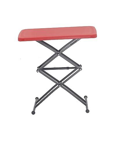 Supreme Scissor Height Adjusting Table, Red