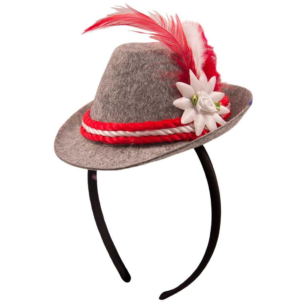 Fancy Dress Grey Oktoberfest German Stag Mini Bavarian Hat Headband Beer Party