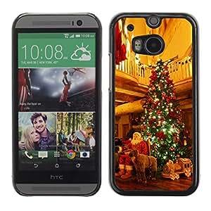 YOYO Slim PC / Aluminium Case Cover Armor Shell Portection //Christmas Holiday Santa Gifts & Tree 1118 //HTC One M8