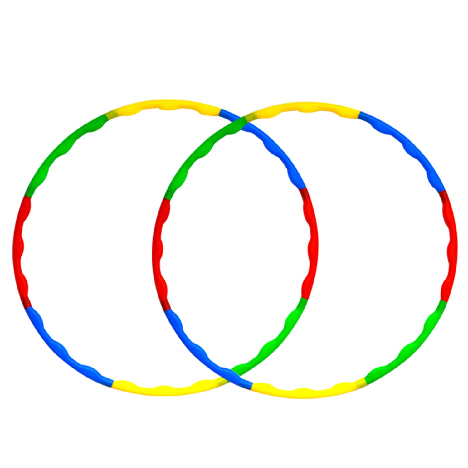 Toy Hula Bulk - Adjustable Weighted & Size Plastic Hoops for Kids and Adults Sports Playing, 32 Inch 8 Sections Hoola Hoop - 2 Pack
